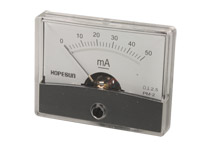 Analogue Current Panel Meter 60 x 47 mm - 50 mA dc - AIM6050