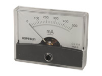 Analogue Current Panel Meter 60 x 47 mm - 500 mA dc - AIM60500