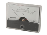 Analogue Voltage Panel Meter 60 x 47 mm - 15 V cc - AVM6015