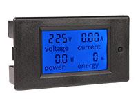 Panel meter instrument to LED, Voltmeter, Ammeter, Wattmeter, Consumed Energy