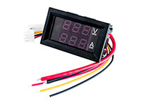 Digital Voltmeter / Ammeter with LED - 100 Vdc - 0 .. 9,99 Adc