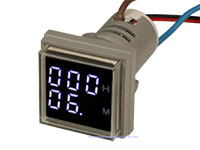 999H 220VAC Digital Meter - White - Ø22mm