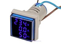 Voltmeter - Ammeter - Frequency Meter - 50..450V - 0..100A - 0..99HZ AC