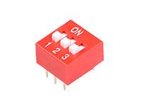Interrupteur DIP Horizontal 3 Contacts