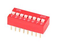 Interrupteur DIP Horizontal 8 Contacts - DIP008
