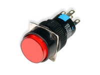 SERIES 74 - 1NO + 1NC - LED 12 V - Ø16 mm - Push button with interlocking - red