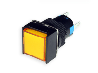 SERIES 75 - 1NO + 1NC - LED 12 V - Ø16 mm - Push button without interlocking - yellow