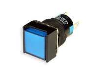 SERIES 75 - 1NO + 1NC - LED 12 V - Ø16 mm - Push button without interlocking - blue