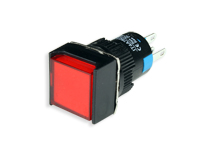 SERIES 75 - 1NO + 1NC - LED 12 V - Ø16 mm - Push button without interlocking - red