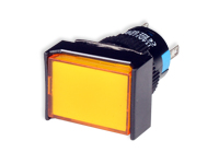 SERIES 77 - 1NO + 1NC - LED 12 V - Ø16 mm - Push button without interlocking - yellow