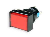 SERIES 77 - 1NO + 1NC - LED 12 V - Ø16 mm - Push button without interlocking - red