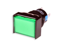 SERIES 77 - 1NO + 1NC - LED 12 V - Ø16 mm - Push button without interlocking - green