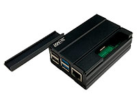 jOY-it ALUMINIUM CASE - Caja Raspberry Pi 4 Modelo B - Aluminio - Preto - RB-AlucaseP4+03B