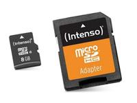 TARJETA MEMORIA MICROSD-SD TRANSCEND 8GB - CLASE 10