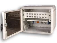 Retex Mininet - Wall-Mount Rack Enclosure Cabinet with 2 Schuko - 32240020