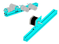 Viga MAKEBLOCK 2424 - 312 mm - azul