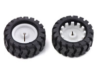 Pair of 42 x 19 mm Wheels - All-Terrain - 1090