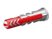 Fischer DuoPower 6 x 30 S K NV - Bucha de nylon, diâmetro do orifício de fixação 6 mm, comprimento 30 mm - Caja de 100 unidades - 555006