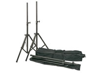 Pair of tripod stands for acoustic boxes - with bag