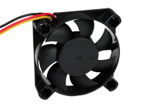 Ventilador Axial Casquillo 50 x 50 x 10 mm - 12 Vcc - 3 Cables - KLD012PP050GSWH-RD ROTATI