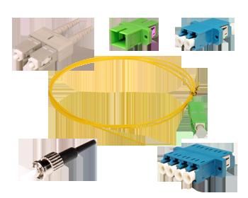 CONECTORES Y ADAPTADORES FIBRA OPTICA