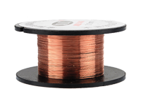 Enamelled copper wire spools