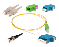 Fiber optic connectors and adapters