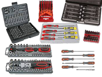Tool cases and set of bits