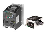 Frequency converters and motor regulators