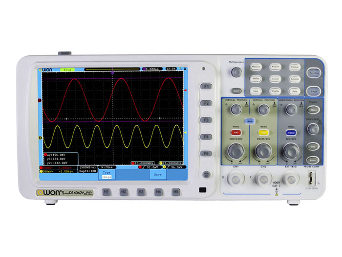 The SDS6062V economic oscilloscope is not only a cheap device ...