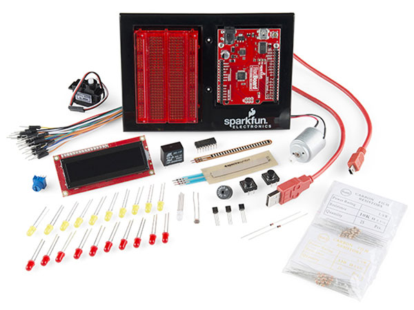 New version of the Sparkfun Inventor Kit, now with 2 line display included